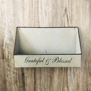 Other - Grateful and Blessed wall shelf..NWOT